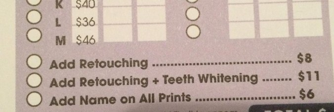 School pictures offer teeth whitening and retouching