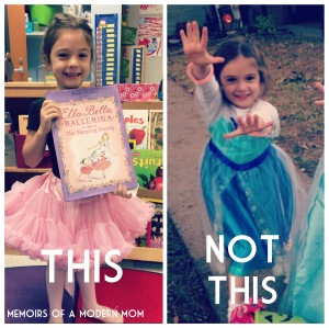 Ballernia Not Elsa. Frozen was not a book first.
